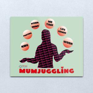 Mumjuggling metallic art print - Redbubble
