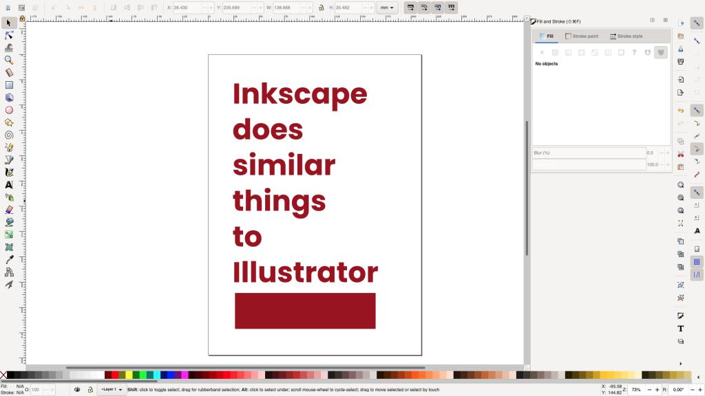 Graphic design tools - Inkscape screenshot